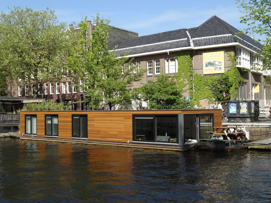 The houseboat that the apartment is in!