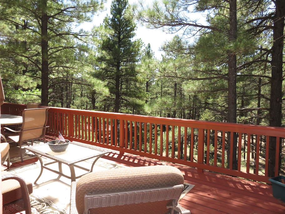 Wraparound deck - Relax in the cool pines!