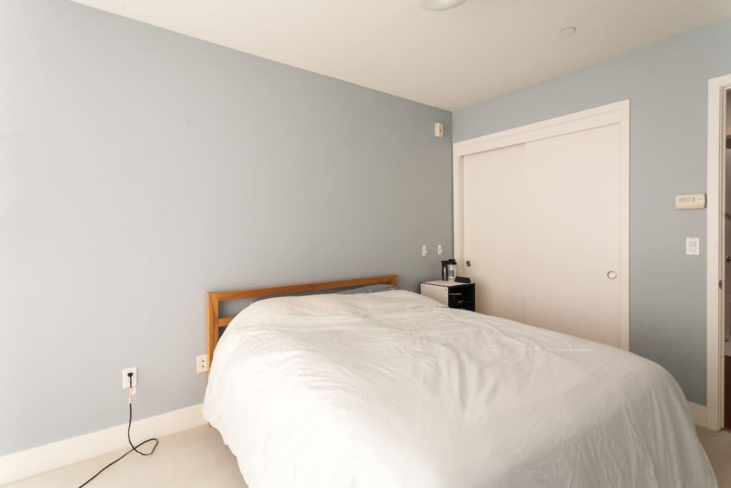 The roomy bedroom