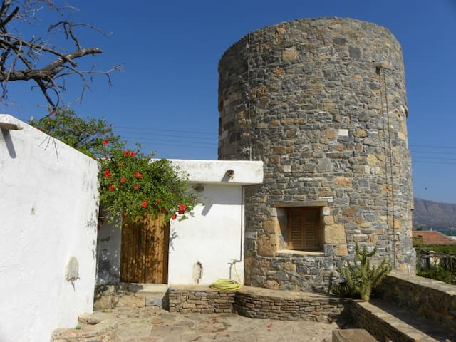Windmill house by the sea - Elounda