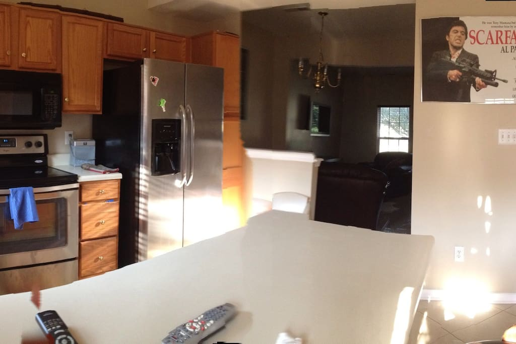 Stainless steel appliances , new construction in home. Flat screen television, back yard & grill on premises.