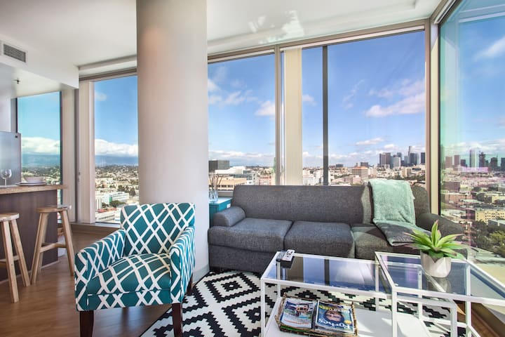 2BED/2BATH LA LUX HIGHRISE + VIEWS! ⭐⭐⭐⭐⭐