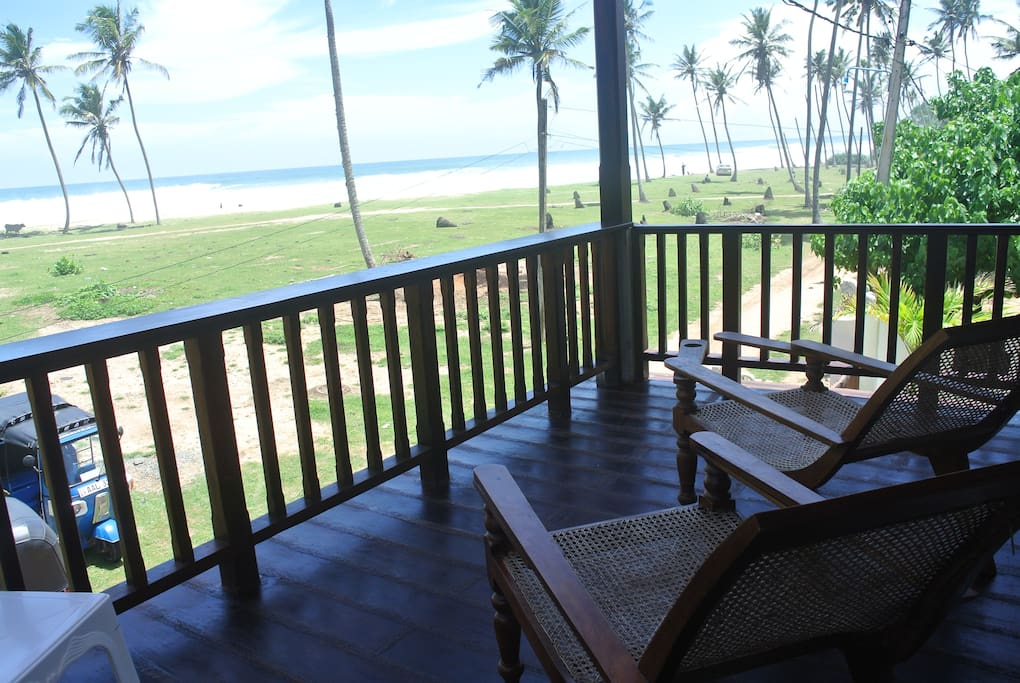 There is a private balcony for this room with stunning views with 2 plantation chairs to relax and enjoy the breakfast and watch the stunning sunsets in the evening.
