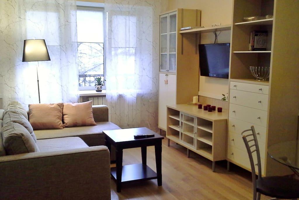 Living room, balcony, Smart TV