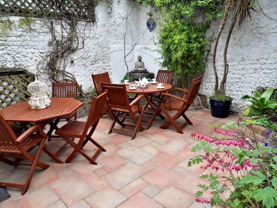 The Courtyard Garden - a great sun trap in the afternoon