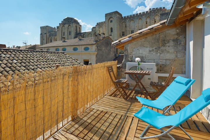 Beautiful views of Avignon, quiet - Avignon - Apartemen