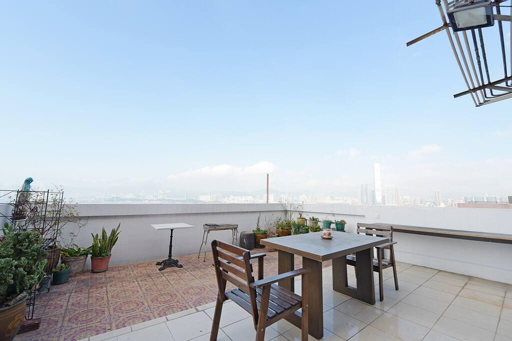 High floor with terrace