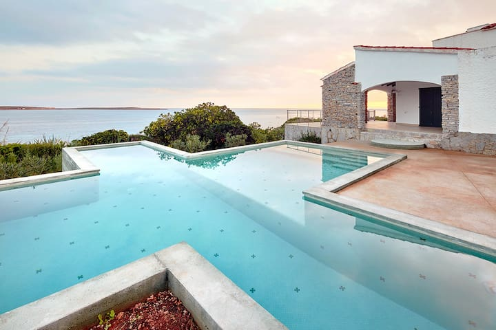Villa In Punta Prima. Private Pool and Sea Views.