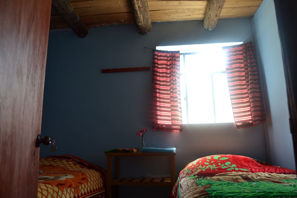 """Room for 1-2 people.  For 3+ people or camping, see """"About our listing"""" for information on how to book our second room or our camping option"""