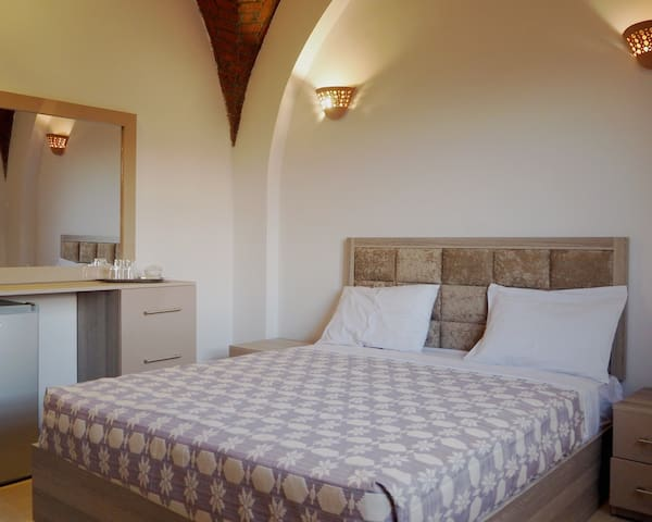 Both bedrooms have a double bed