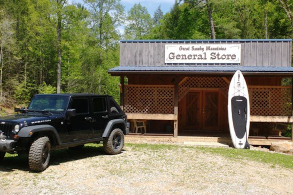 Hiking, Jeep trails, Stand Up Paddleboard Tours, Shooting Range & more... The General Store at Outdoors in the Smokies is a destination in and of itself!