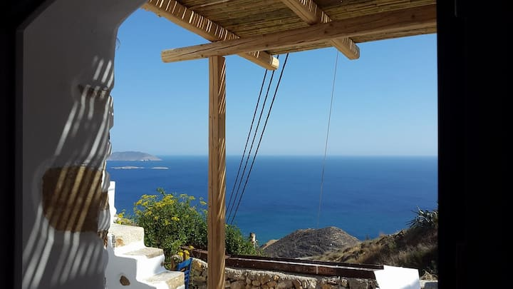 Traditional Cycladic Stone House in Anafi
