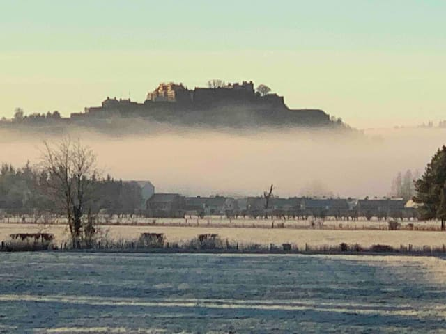 View of Stirling Castle from our front garden