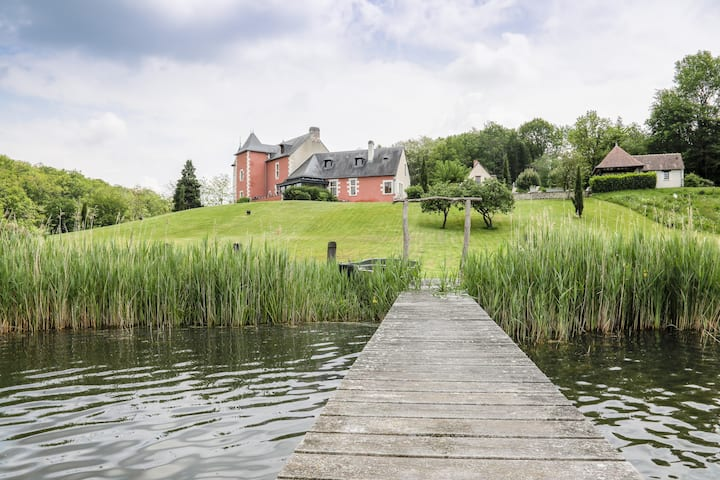 Lakefront French Chateau with Swimming Pool