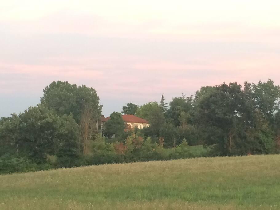 la casa vista dal paesino