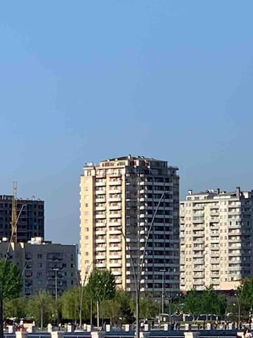 Panorama of Baku and Caspian sea - 8 floor