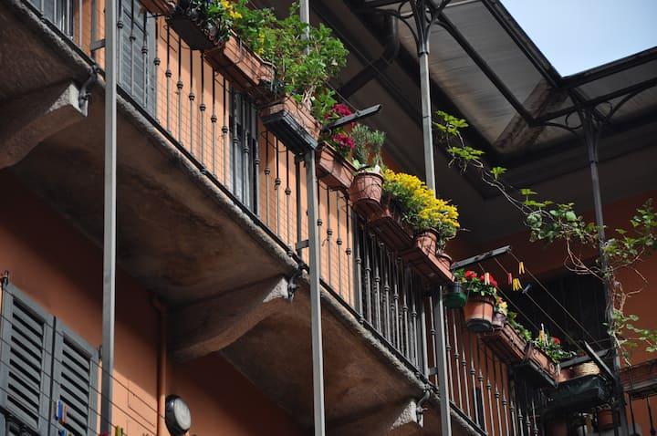 Balustrade house in Milan center