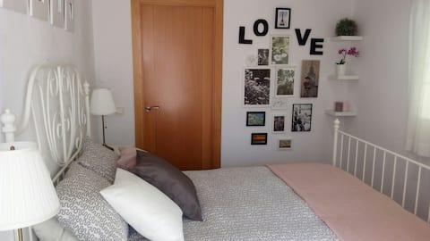 Twin room in Tarragona