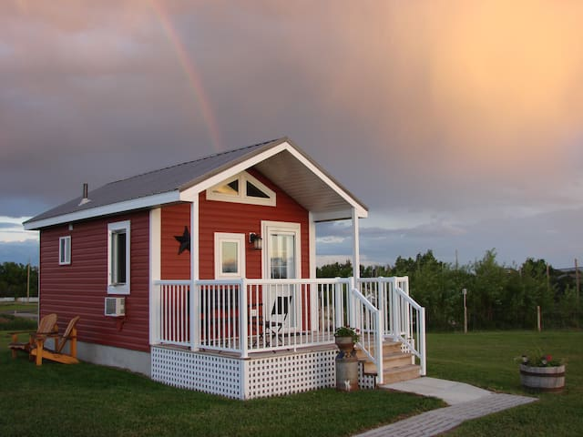 PRAIRIE ROSE COTTAGE - cozy cabin near Ft Macleod