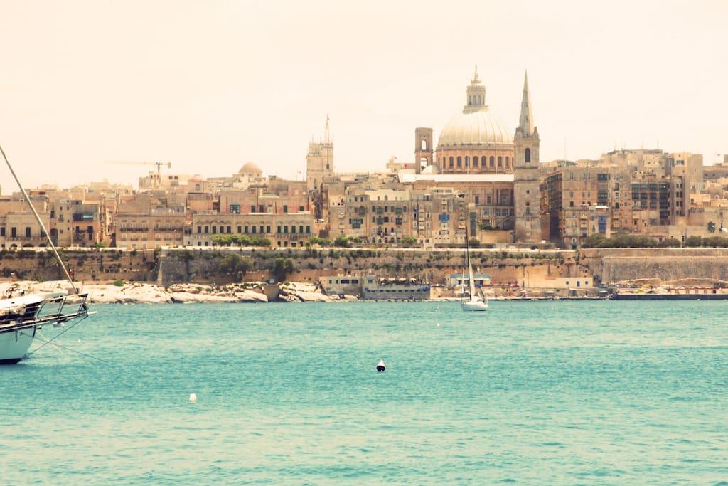 Valletta as seen from Tigne Point