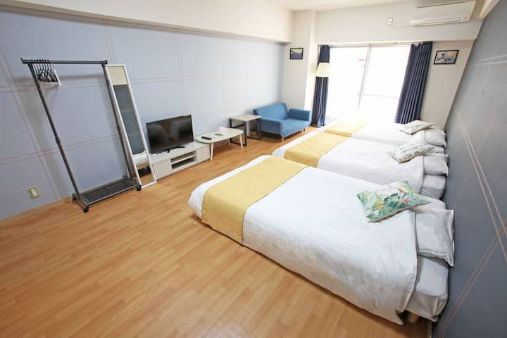 [Arcadia EF] Namba walking distance/8gst/Free WiFi