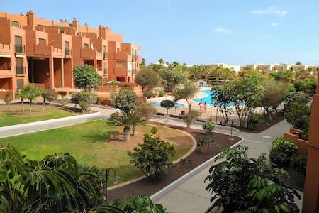 Apartment with pool in El Medano (La Tejita)