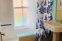 The upstairs shower