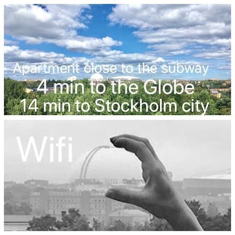 APARTMENT CLOSE TO THE GLOBE.  Wi-fi included.