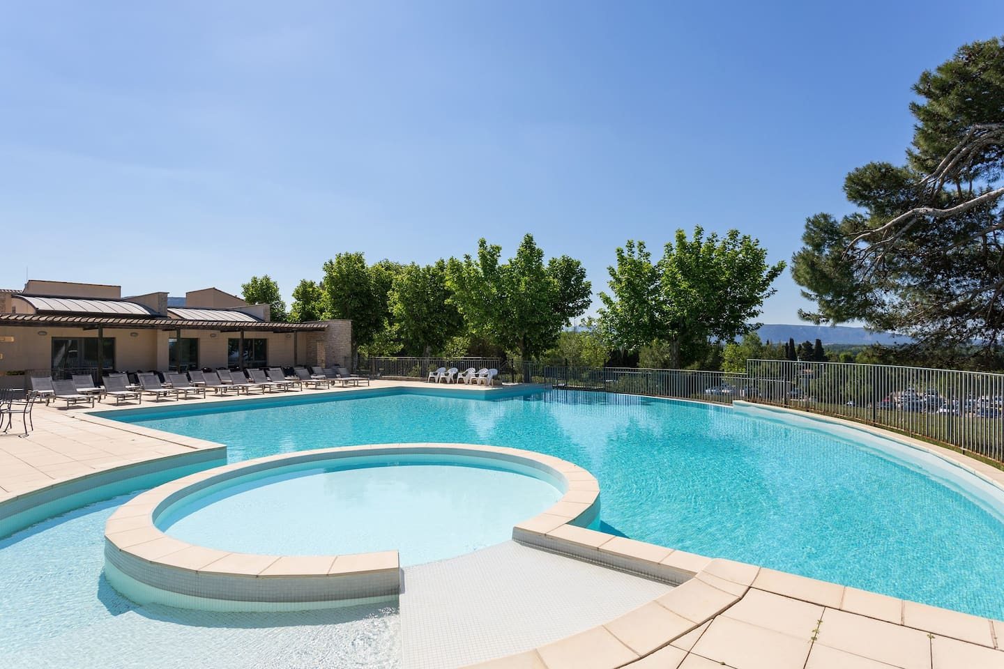 You will love swimming in the outdoor pool.