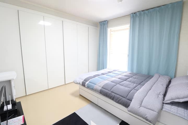 [신규오픈] WI-FI 배방역세권 (KTX역, 지중해마을 인근) 펜션급 아파트(투룸)