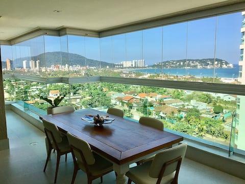 Apartamento c/ vista para o mar e varanda gourmet!