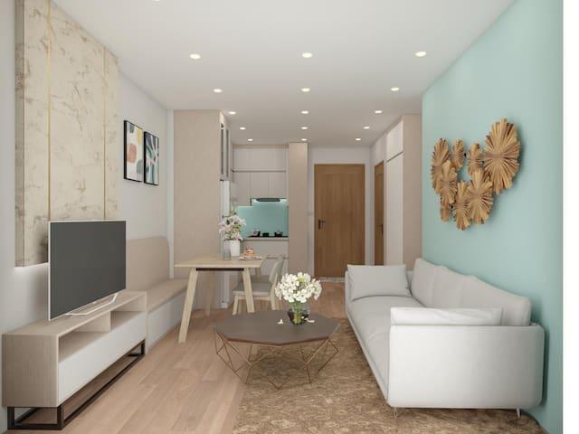 A tropical apartment