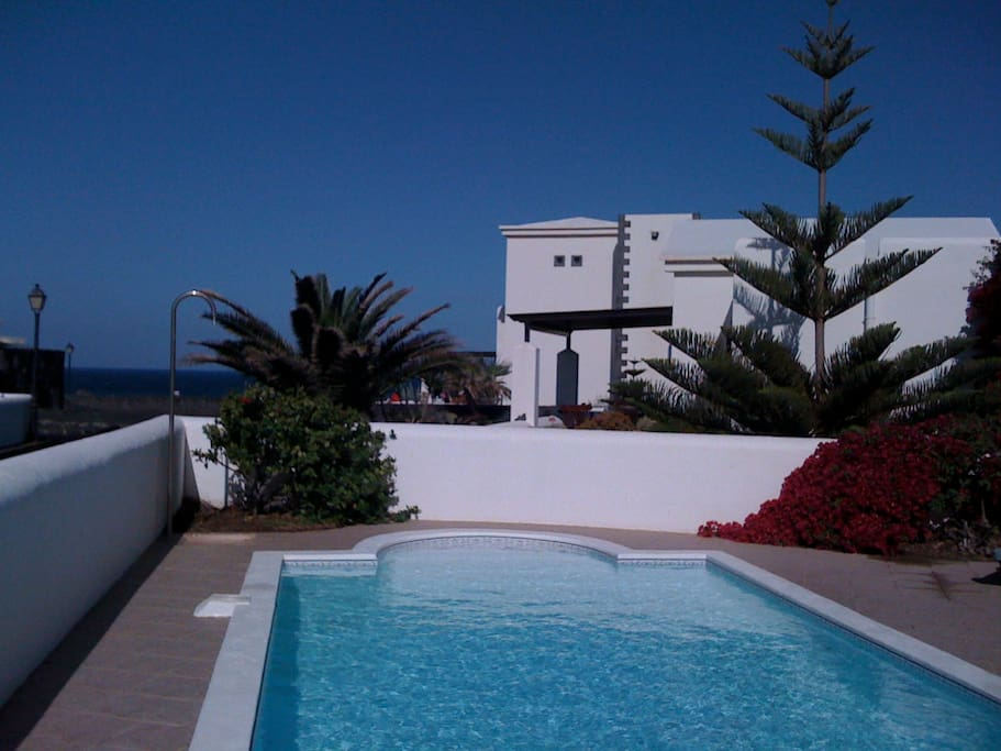 Enjoy the sea views from the pool terrace.