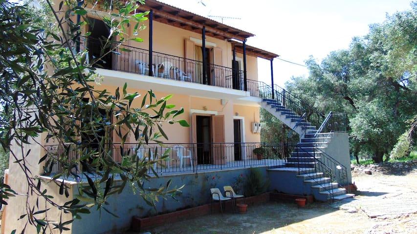 Quiet  Olive Garden House for 12 p, Paleokastitsa - Palaiokastritsa - Casa