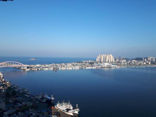 속초스카이씨리조트,17층 최고층오션뷰,중앙시장,아바이마을 5분