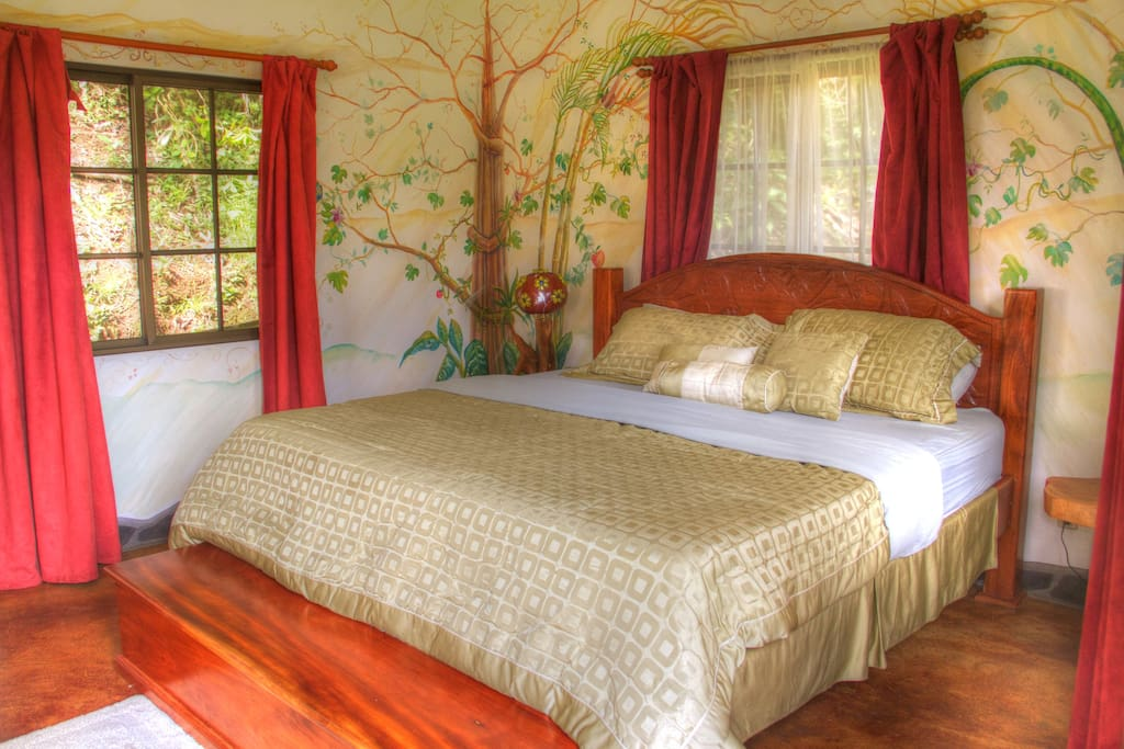 Garden of Eden, king sized bed with private garden shower