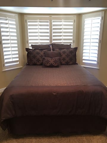 Queen size comfortable bed