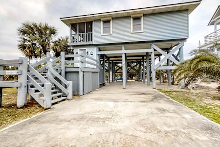 Dog-friendly home - steps from the beach w/ a screened in porch!