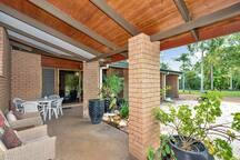 Relax on verandah front of house