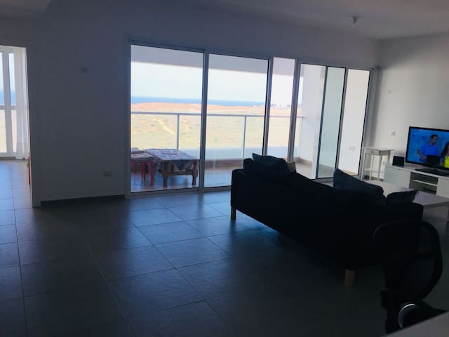 Beautiful brand new condominium with a sea view.