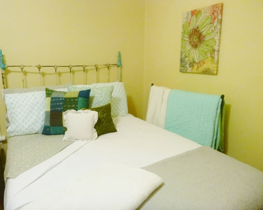 Your bed, with lovely vintage accents
