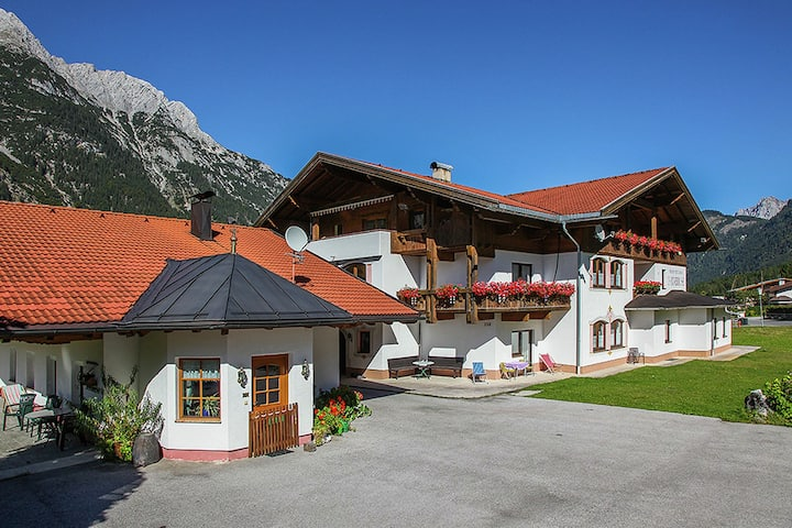 Superb Apartment in Leutasch Tyrol with Meadow around