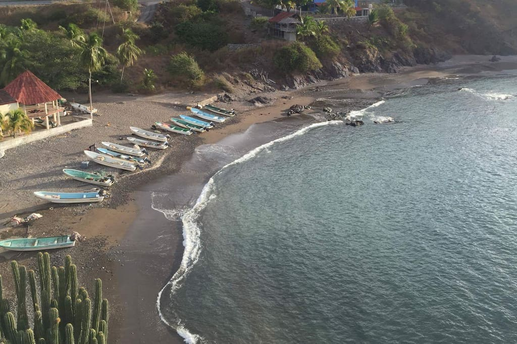 Partial view of the Village Beach a few minutes walk down to beach.