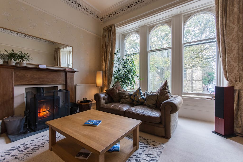 Lounge with great wood-burning stove and plenty of wood