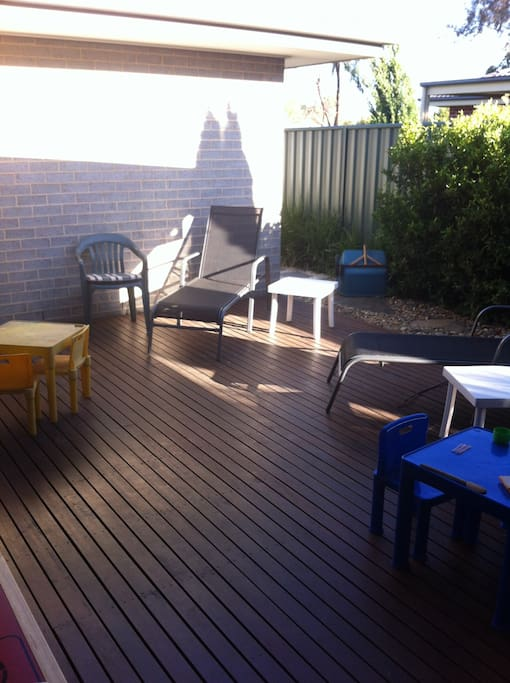 decking. bbq and outdoor furniture. fan & lighting