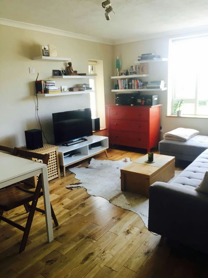 Private guest room with Ultrafast WiFi, Large HD TV, DVD, Hi-Fi, workspace, sofas and beds