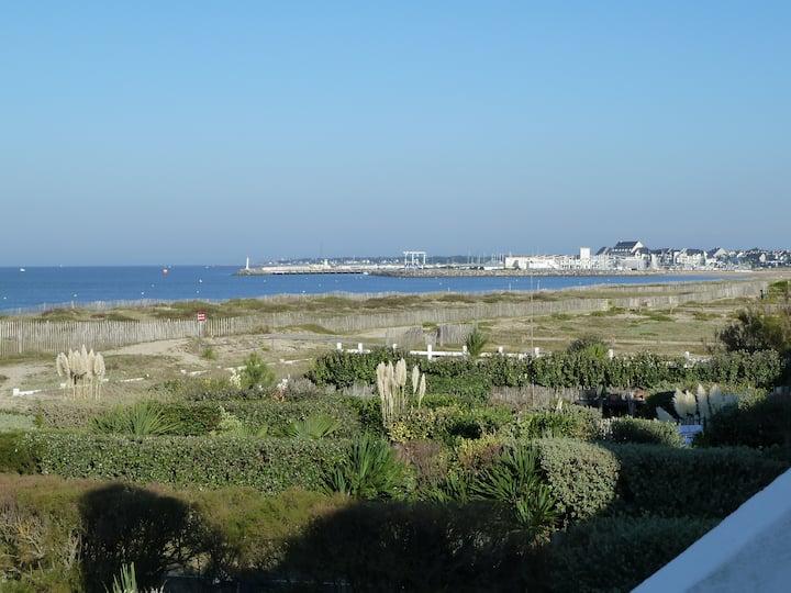 Appartement vue mer accès direct plage