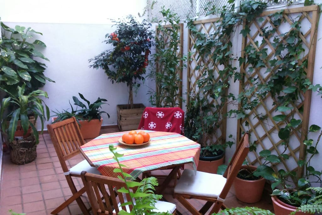 Joli appartement tranquille avec patio interieur for Appartement avec patio