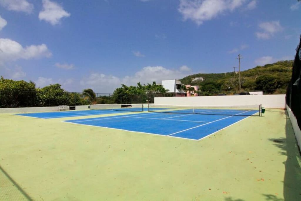 Tennis Court steps from condo