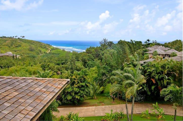 Hawaiiana home with pool, ocean and lush valley views! - Kumulani